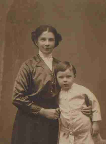 Minnie with son Frederick