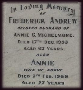 Memorial to Frederick & Annie